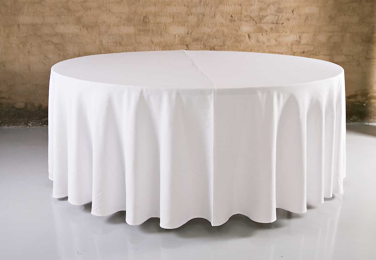 Table Cloth Round Floor Length 3 2m R55 Silver